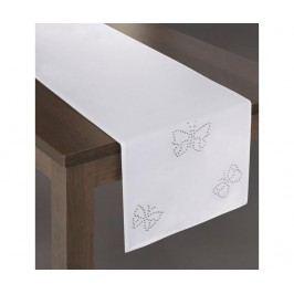 Středový ubrus Melania White 40x140 cm