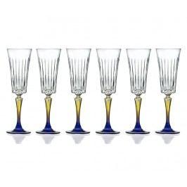 Sada 6 sklenic na šampaňské Gipsy 210 ml