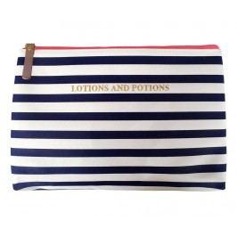 Kosmetická taštička Stripy Navy & White