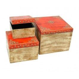 Sada 3 krabic s víkem Orange