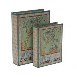 Sada 2 krabic ve tvaru knihy Beautiful Ride