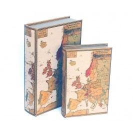 Sada 2 krabic ve tvaru knihy Maps