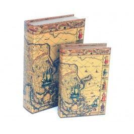 Sada 2 krabic ve tvaru knihy West Ocean