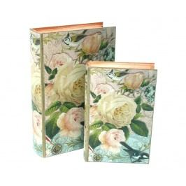 Sada 2 krabic ve tvaru knihy Rose
