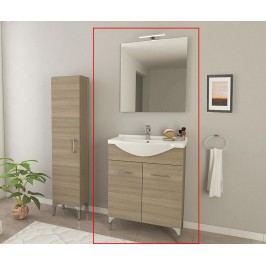 Třídílná sada nábytku do koupelny Rubino Brown