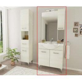 Třídílná sada nábytku do koupelny Rubino Large White