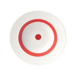 Hluboký talíř The Dot Red