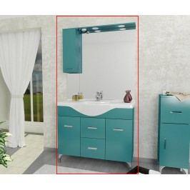 Třídílná sada nábytku do koupelny Smart Even