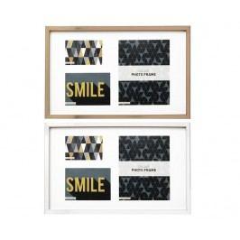 Sada 2 fotorámečků Smile Beige Rectangle