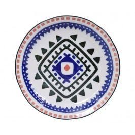 Mělký talíř Ethnic Black Blue