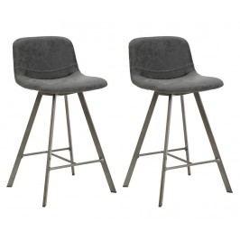Sada 2 barových židlí Arkansas Dark Grey