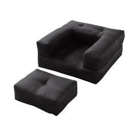 Rozkládací křeslo Cube Black