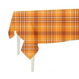 Ubrus Orange Checks Plaid 140x140 cm
