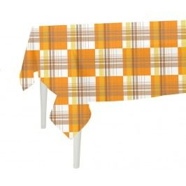 Ubrus Orange Checks 140x300 cm
