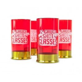 Sada 4 sklenic na panáky Shotgun Cartridge 35 ml
