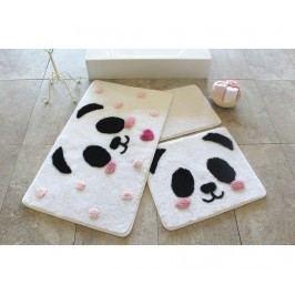 Sada 3 předložek do koupelny Panda