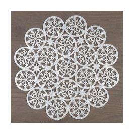 Prostírání Snow Star Round Silver 35 cm