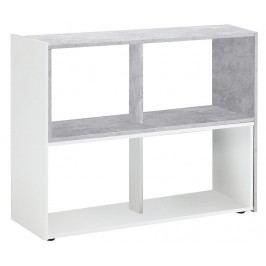 Nastavitelná knihovna Liberty Grey and White
