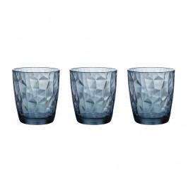 Sada 3 sklenic Diamond Ocean Blue 300 ml