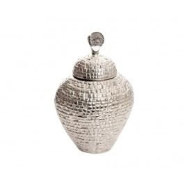 Dekorační nádoba s víkem Twistle Silver Grey