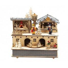 Hudební dekorace Christmas Carousel