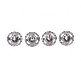 Sada 4 prstenů na ubrousky Silver Diamond