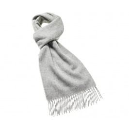 Šála Plain Slim Silver 25x190 cm