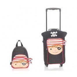Sada cestovní kufr na kolečkách a skloský batoh pro děti Pirate