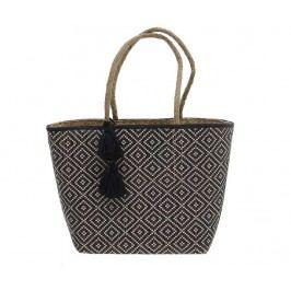 Plážová taška Pompons Grey