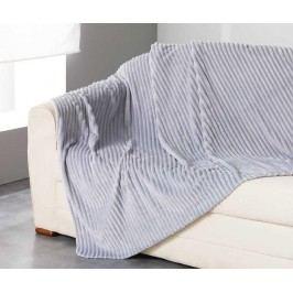 Pléd Jacquard Uni Grey 125x150 cm