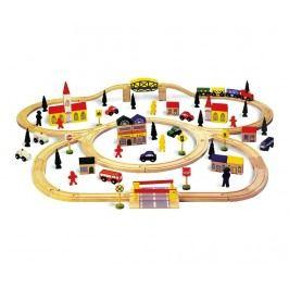 Sada kolejnice a vláček na hraní Railway
