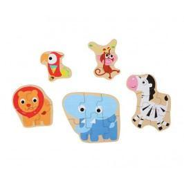 Sada 5 puzzlů Wild Animals
