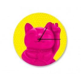 Nástěnné hodiny Lucky Cat