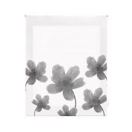 Zatemňovací roleta Grey Flowers 160x180 cm
