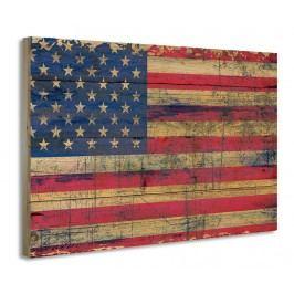 Obraz Old Flag 50x70 cm