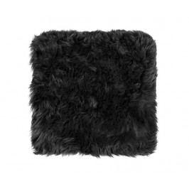 Polštář na sezení Fluffy Black 40x40 cm