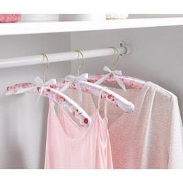 Polstrovaná ramínka na šaty, 3 ks