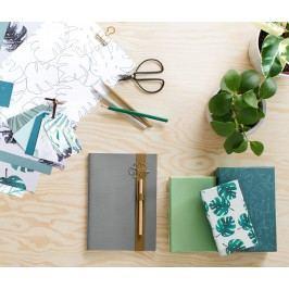 Sada papírů s motivy a jmenovek na dárky