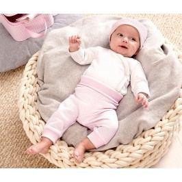 Dárková sada pro miminka, růžovo-bílá