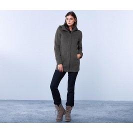 Kabát z pleteného fleecu