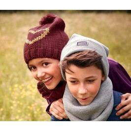 Pletená čepice a dutá šála